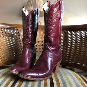 Tony Lama Burgundy Cowgirl Boots